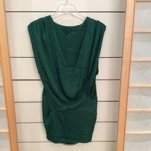 Green Silk dress by Foley + Corinna